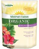 Whitney Farms® Organic & Natural Palm & Hibiscus Food is specially formulated to produce dramatic palms and vibrant hibiscus. It contains ORGANIC-GRO™ beneficial living microbes designed to stimulate root development, increase nutrient uptake, and improve the water efficiency of plants. Get your at a Hooked On Palms location near you.