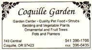 Coquille Garden is located in the heart of Coquille at 749 Central, Coquille, OR 97423.  They have a nice selection of Palm bushes and Palm trees and dwarf Citrus and fertilizer from Hooked On Palms. If they don't have the Exotic plant or palm you want just ask them to order it from Hooked On Palms. Give them a call at 541-396-1766.
